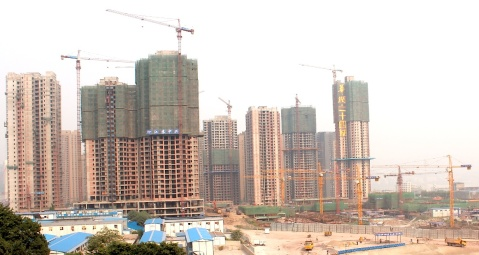 Construction work in Chonqing, pumping up the housing bubble